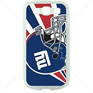 NFL American football New York Giant Fans Samsung Galaxy S3 SIII I9300 TPU Soft Black or White case (White)