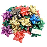 Pack of 36 Self Adhesive Gift Bows in Assorted Colors, Peel N Stick Gift Bows
