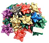 Arts & Crafts : Pack of 36 Self Adhesive Gift Bows in Assorted Colors, Peel N Stick Gift Bows
