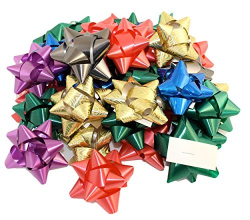 Pack of 36 Self Adhesive Gift Bows in Assorted Colors, Peel N Stick Gift - Assorted Bows
