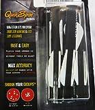 Quikfletch W/W/W Twister Black Tube Fletch (6-Pack)
