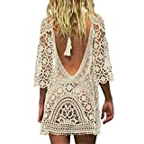 Best Beach Dresses - Jeasona Women's Bathing Suit Cover Up Crochet Lace Review