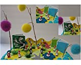 "Dr. Seuss 20 Piece Birthday Cake Topper Set Featuring 1"" Mini Figures from Cat in the Hat and Other Seuss Themed Cutouts and Decorative Accessories"