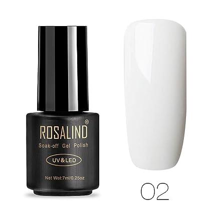 ROSALIND Esmalte de uñas de gel de 7 ml, semipermanente, secado con salón de
