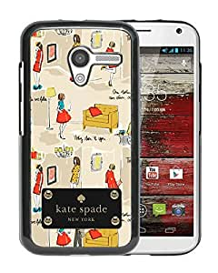 Fashionable And Unique Kate Spade Cover Case For Motorola Moto X Black Phone Case 173