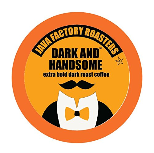 Java Factory Single Cup Coffee for Keurig K Cup Brewers, Dark and Handsome Dark Roast, 40 Count