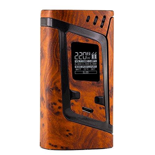 PIMP MY VAPE – Custom Protective Vinyl Decal for ecig (e-cigarette) SMOK ALIEN 220W TC Cover – Best quality skin – Second life to your box mod, wrap and enjoy + BONUS STICKER (Wood Marble)