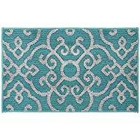 Jean Pierre Nevio 24 x 40 in. Loop Accent Rug, Blue Lagoon/Grey