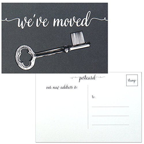 Moving Announcement Postcard - We've Moved Cards - Change of Address - Blank 4x6 Inch Post Cards - Pack of 25