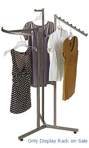 New Customize Boutique Raw Steel 3-Way Clothes Display Rack 48 inch -72 inch H by Cloth Display Rack