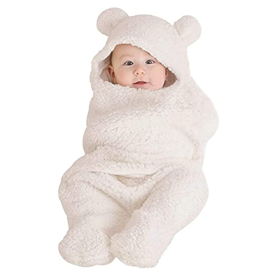 STRIR Saco de Dormir para Bebés Manta de Plástico Swaddle Recién Nacido 0-12 Meses