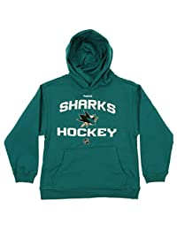 Outerstuff NHL Youth Boys San Jose Sharks Team Logo Hoodie, Teal