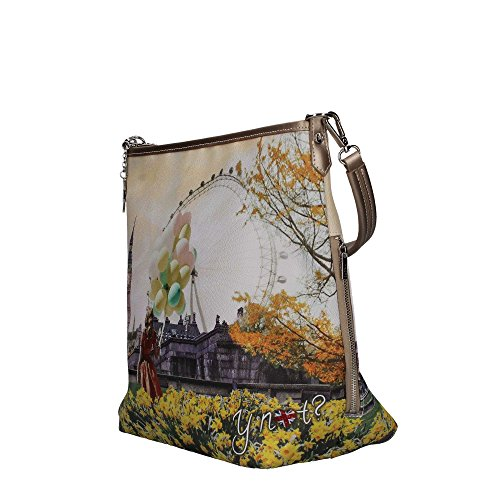 INSTANT BORSA CON NOT Y FLOWER TRACOLLA HOBO BAG DONNA J349 TOWER 6wq6zan4