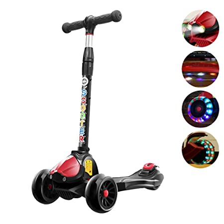 Patinetes Scooter de Cuatro Ruedas Flash Scooter Plegable 2 ...