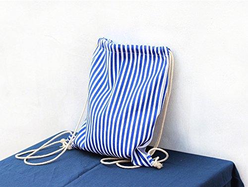 Cheerlife Fashion Canvas Turnbeutel Sportbeutel Beuteltasche Strandbeutel Rucksack Gymsack Gym Bag Streifen ofy4tVCXk