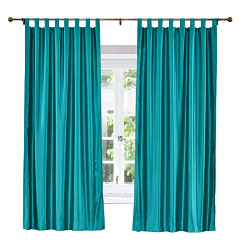 ChadMade Elegant Vintage Polyester Cotton Silk Thermal Insulated Curtain Peacock 120