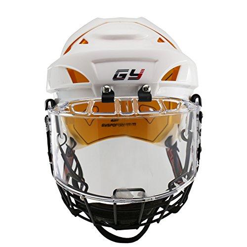 Hockey Helmets Helmet Combo (GY Propene Polymer Ice Hockey Helmets Full Mask Combos with Perfect Visor Full-cover Training Sports Equipment(L))