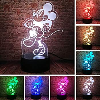 Minnie Mouse Frame Girl Baby Children Nursery Table Lamp Night Light Touch Lamp