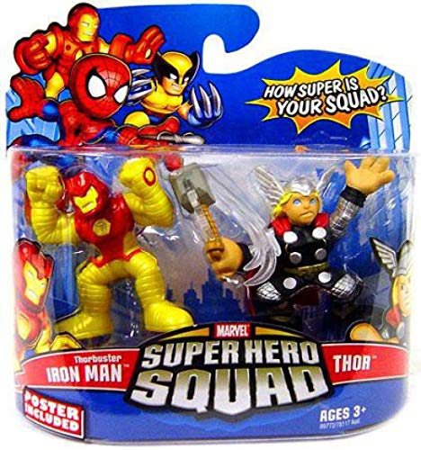 (Marvel Superhero Squad Series 13 Mini 3 Inch Figure 2-Pack Thorbuster Iron Man and Thor)