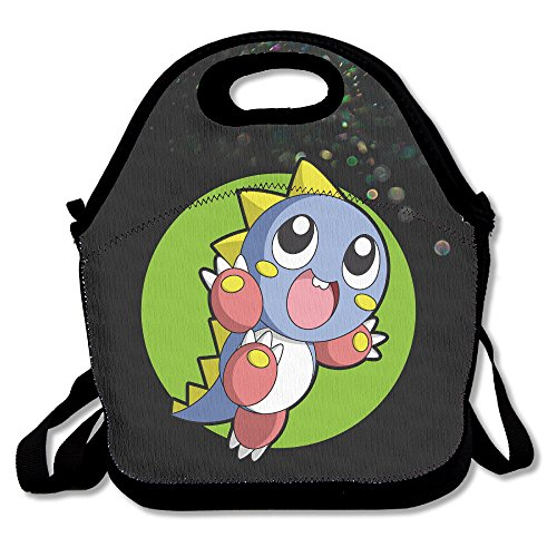 Bekey Bubble Bobble Dinosaur Lunch Tote Bag Lunch Box For Women Adults Kids Girls For Travel School Picnic Grocery (Adult Arcade San Antonio)