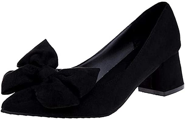 Pumps Shoes Med High Heel Pointed Toe