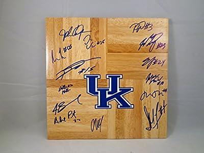 Kentucky UK Wildcats 2015-2016 Team Signed 12x12 Wooden Board w/ COA