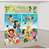 "Amscan Disneys Tinkerbell Scene Setter Party Background, Multicolored, 59"" x 32 1/2"""