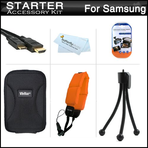 Starter Accessories Kit For The Samsung HMX-W200 Waterproof