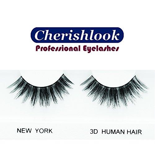 Cherishlook 3D Human Hair Eyelashes (NEW YORK) - 5packs Center Faux Eyelashes