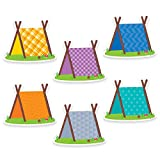 Creative Teaching Press Woodland Friends Pup Tents 6' Designer Cut-Outs (6010)