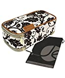 Brown Fleur Double-Sided Cosmetic Toiletry and Jewelry Bag Travel Organizer Bag (8