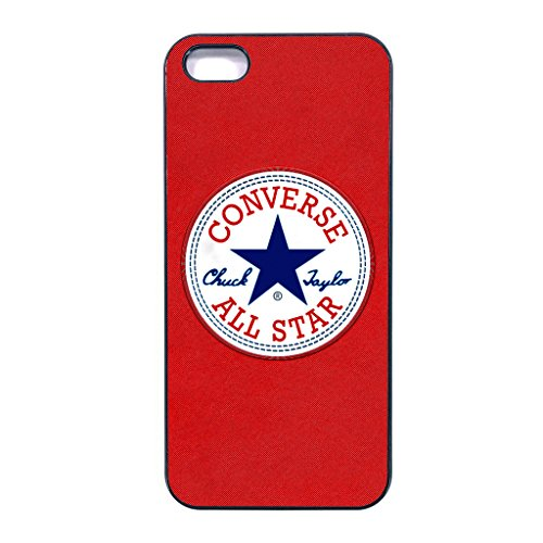 Converse Iphone 5/5s case Customized soft rubber black phone case, design #1