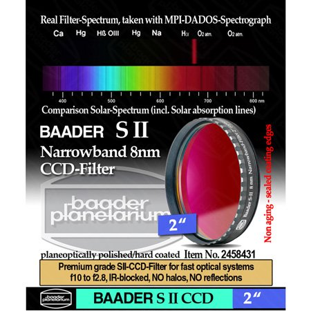 Baader Planetarium 8nm SII CCD Filter, 2'' Mounted by Baader Planetarium