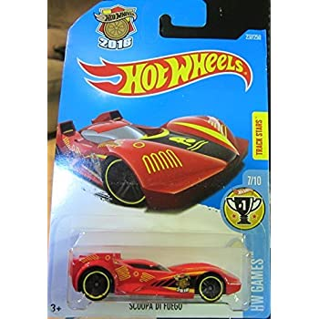 Scoopa Di Fuego Hot Wheels 2016 HW Games Series #7/10 1:64 Scale Collectible Die Cast Metal Toy Car Model #237/250 on International Card