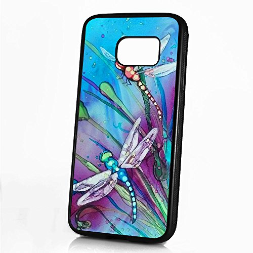 ( For Samsung S7 , Galaxy S7 ) Durable Protective Soft Back Case Phone Cover - A11354 Dragonfly -
