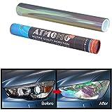 ATMOMO Transparent 12 by 48 inches Self Adhesive Shiny Chameleon Headlights Films,Film Sheet Sticker,Tint Vinyl Film