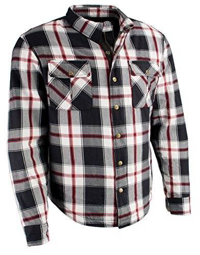Price comparison product image Milwaukee Performance Men's Flannel Biker Shirt with Aramid (Black / White / Red,  2X)