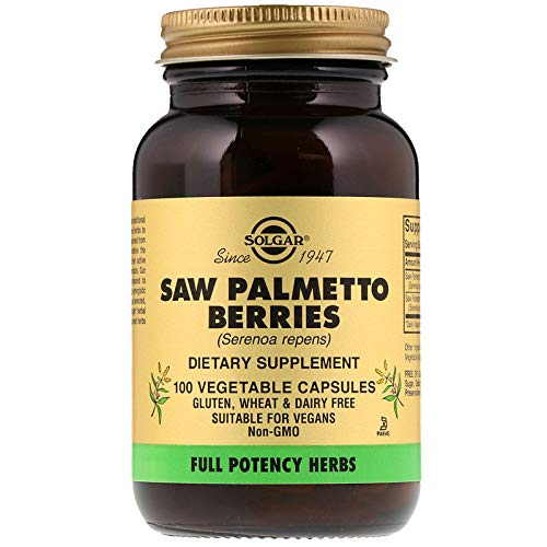 Solgar - Full Potency Saw Palmetto Berries, 100 Vegetable Capsules