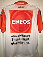 Large 2017 SPARCO Kyle Larson Xfinity ENEOS Pit Crew Shirt Nascar Ganassi Racing 1/4 ZIP Jersey not Race Used