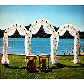 Amazon adorox 75 ft white metal arch wedding garden bridal adorox 75 ft white metal arch wedding garden bridal party decoration arbor 3 junglespirit Image collections