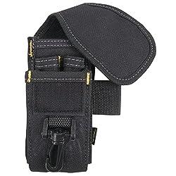 Clc Custom Leathercraft 5-pocket Cell Phonetool Holder - 1105