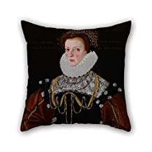 Oil Painting Gower, George - Lady Philippa Coningsby Pillow Covers 18 X 18 Inches / 45 By 45 Cm Best Choice For Chair Teens Boys Boys Club Outdoor Teens Boys With Twin Sides