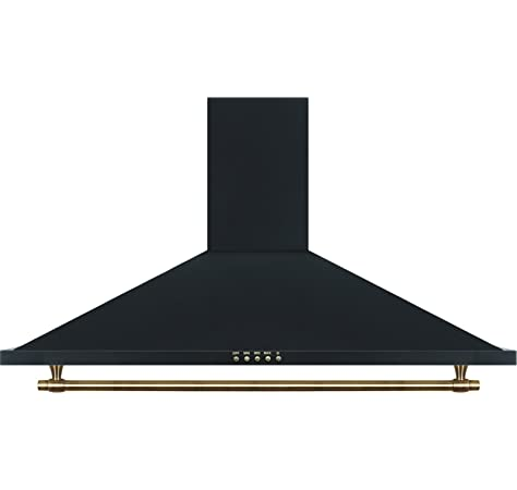 Cocina SolThermic F9L50G2-N PANORÁMICA de color Color Negro Rústico con Tiradores, mandos y ribetes dorados compuesta por 5 Quemadores y Horno panoramico: Amazon.es: Grandes electrodomésticos