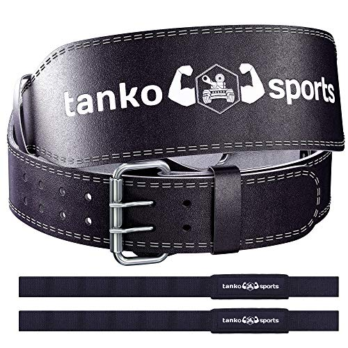 Tanko Sports Genuine Leather Weightlifting Belt for Women, Men Lifting Belt