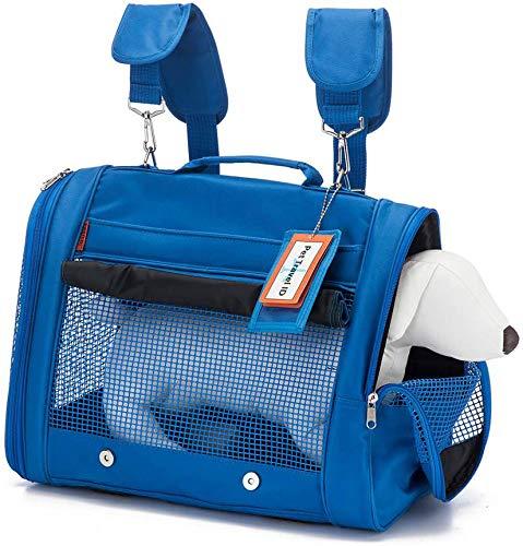 Prefer Pets Backpack Pet Carrier, Blue