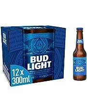 Bud Light Lager Bottle, 12 x 300 ml