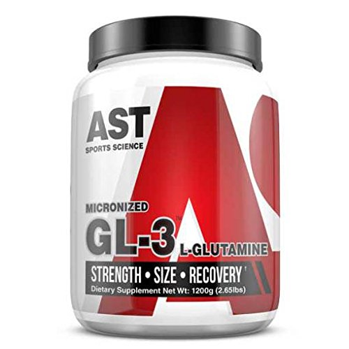 Pure Micronized Glutamine - GL3 L-Glutamine 1200 Grams - 120 Servings - AST Sports Science by AST Sports Science