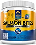 itch omega paw - Salmon Oil Chewables for Dogs - With Wild Alaskan Salmon Fish Oil - Natural Omega 3 & 6 Supplement for Joint Health - With EPA & DHAgold + Biotin for Skin & Coat Support - 90 Chews