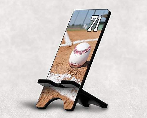 (Cell Phone Stand Baseball #13700 Personalized Player Jersey Number On A Universal Docking Charging Station Stand Customized by TYD Designs Number 71)
