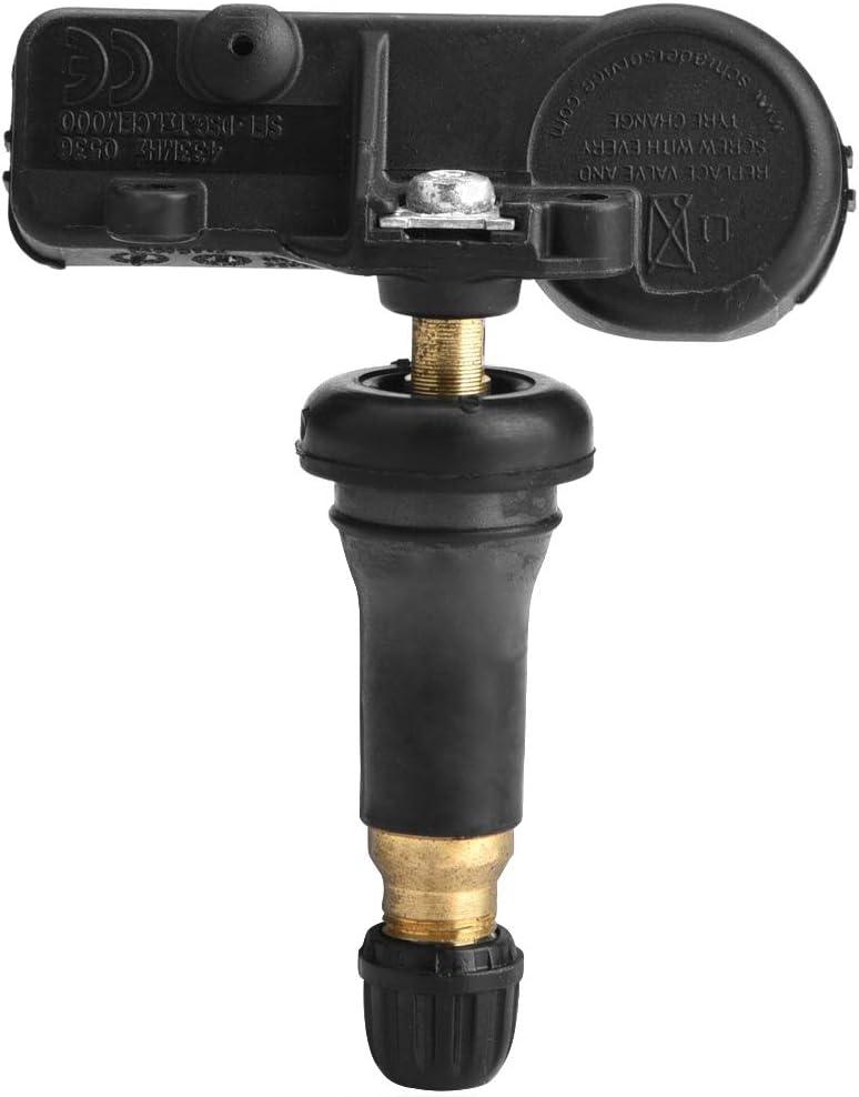 Hlyjoon 9683420380 TPMS Syst/ème de Capteur de la Pression des Pneus de Surveillance de V/éhicule Automobile Remplacement Noir ABS pour C4 308